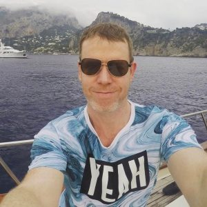 Andrew Griffith pic on a boat - About us - My Story