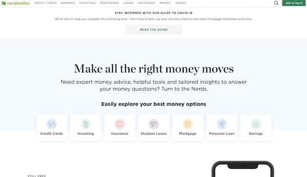 Nerd Wallet - Inspiring Ideas