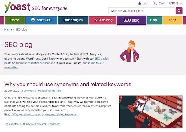 Yoast SEO Blog - Types of Blogs and How they Make Money