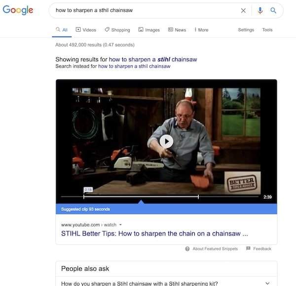 How to Sharpen a Stihl Chainsaw - Blogging vs Vlogging