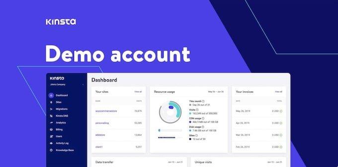 Kinsta Demo Account