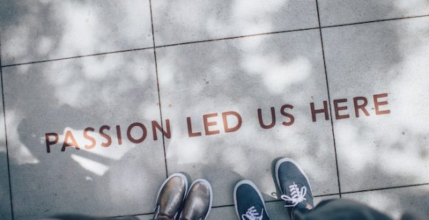 Passion led us here written on the ground - Blog Meaning - How can a blog generate income?