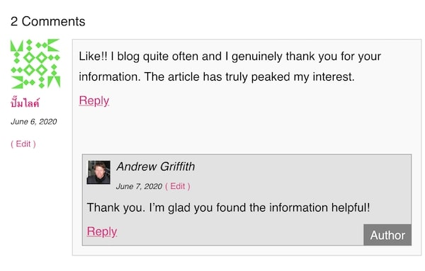 Blog Comments Example