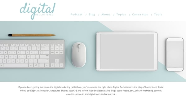 Digital Decluttered - example blogs doing it well