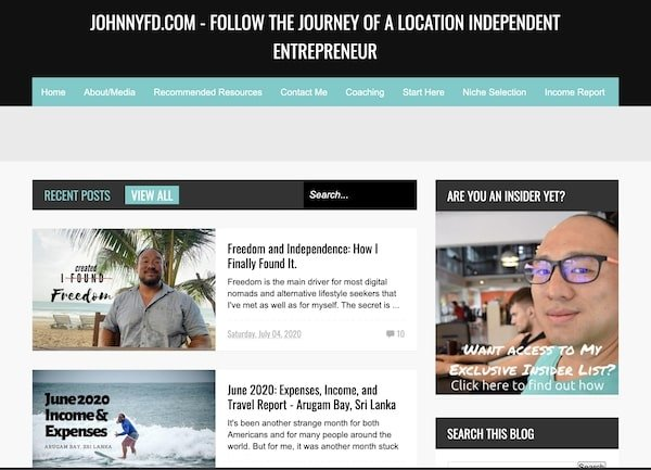 Johnny FD - blog definition and example blogs doing it well