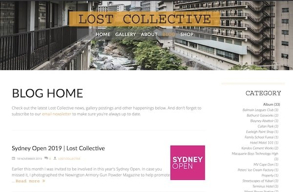 Lost collective - example blogs doing it well