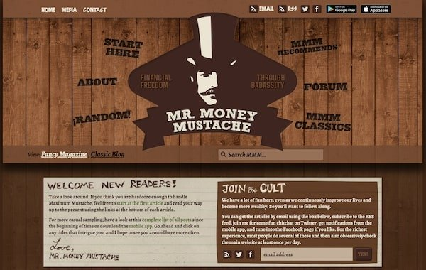 Mr Money Mustache - Blog Definition and example blogs doing it well