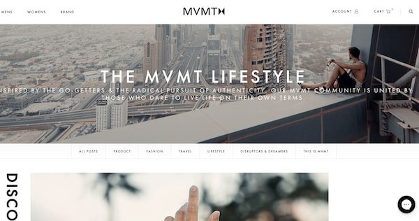 Mvmt blog attached to store - how can a blog generate income