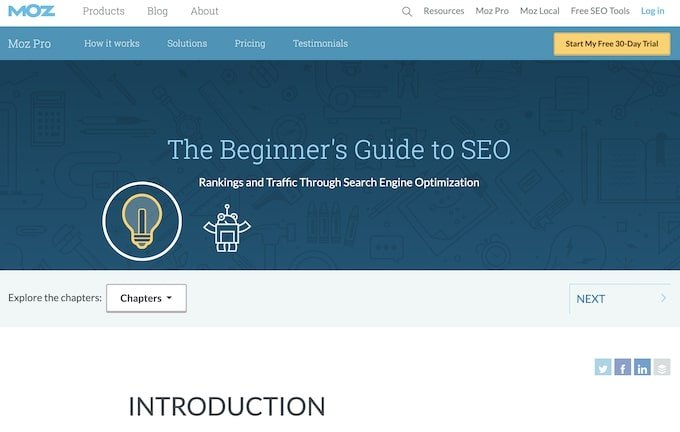 Beginner Guide to SEO - Evergreen Content Examples