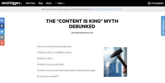 The Content is King Myth Debunked - Evergreen Content Examples