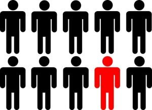 Red man in group - Uniqueness is paramount in Evergreen content