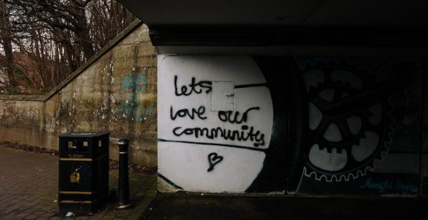 Community written as graffiti on wall - What is a Blog Used For? Are Blogs still relevant?