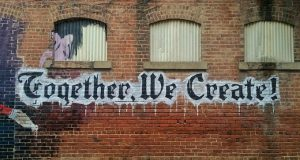 Together we Create painted on Wall - Good Blog Names - Ultimate Guide