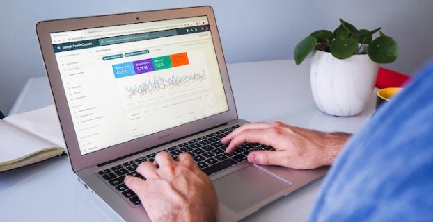 Google search console on computer screen