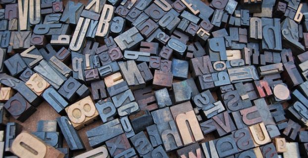 Letters and numbers signifying types of blogs
