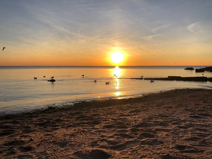 Early morning beach scene - Writer's Block - How to Get Past It Quickly