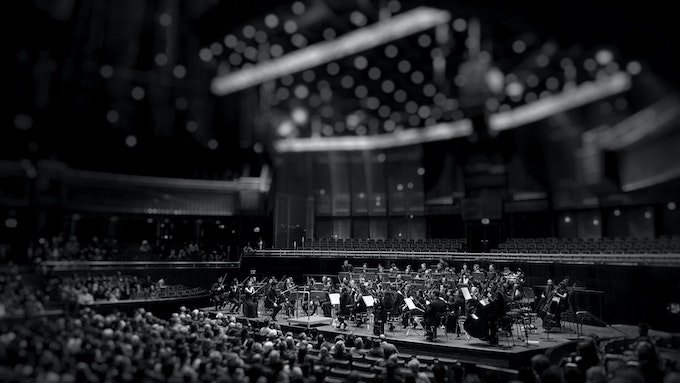 orchestra in black and white - writer's block
