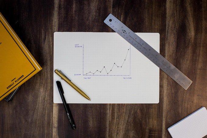handwritten chart showing growth