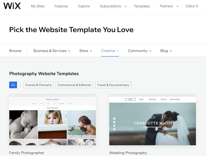 How to Choose a Wix template you love