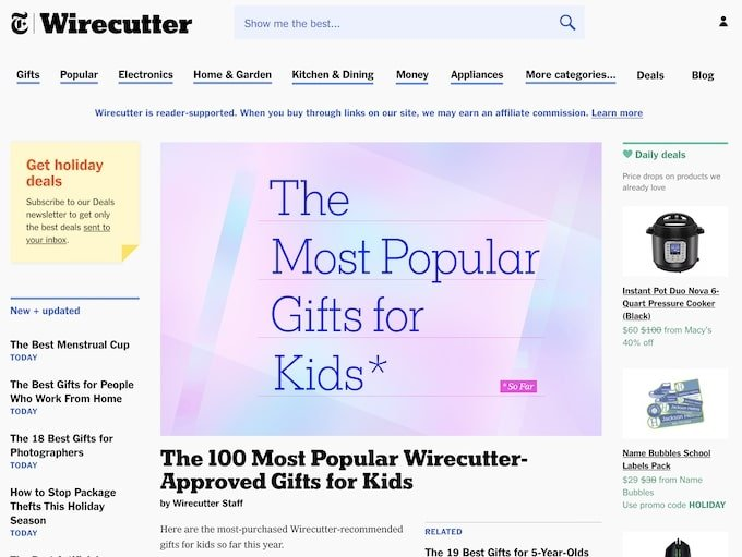 Blog examples - Wirecutter