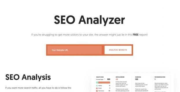 SEO Analyser - site review