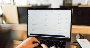 Person working on computer - scalable business model