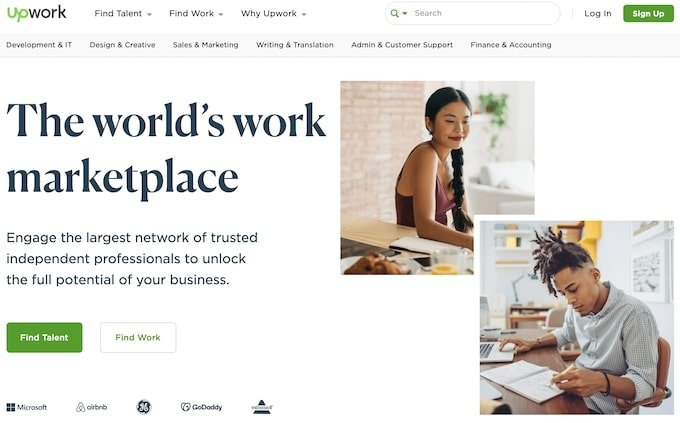 upwork - helps with scalable business model