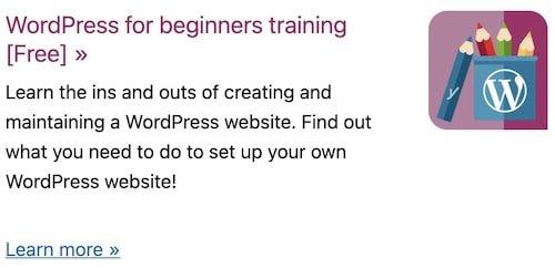 Wordpress for beginners training