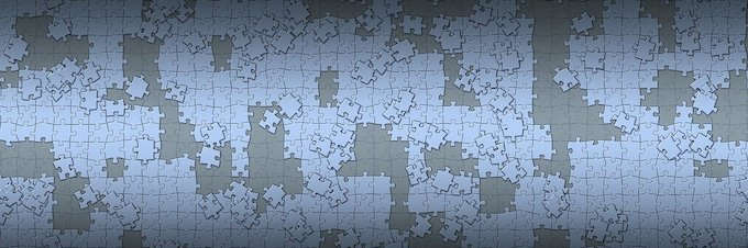 jigsaw puzzle with homogeneous pieces